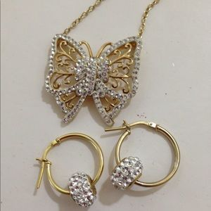 Swarovski crystals necklace & earring